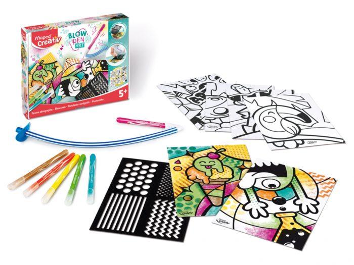 Pučiami flomasteriai komplektas Maped Creativ Blow Pen Pop'Art - 1/4